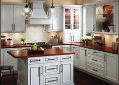 Will These 16 Rustic, Country Kitchens Inspire Your Remodel?: Wood Counters Make Kitchen Traditional and Classic