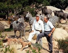Walt Disney on the Jungle Cruise with a Craft Cast Member .