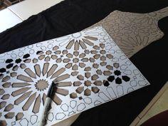 a sharpie to transfer the design