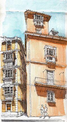 The narrowest street in Málaga by Luis_Ruiz, via Flickr