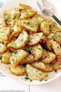 Italian Roasted Garlic & Parmesan Potatoes