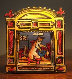 """""""Puss in Boots toy theatre"""" by Clive Hicks-Jenkins"""