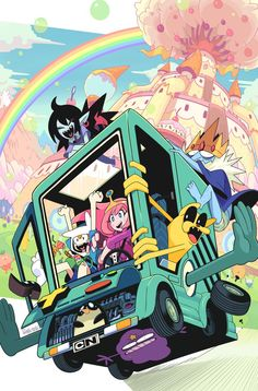 Adventure time. I love this deviant artist's style. His name gashi-gashi. Although his drawings can be extremely perverted (like extremely) his style is so amazing!