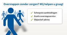 Overstappen.nl is een eerlijke, open en behulpzame overstapservice voor vaste lasten als energie, internet, digitale TV, auto- en zorgverzekeringen. Vaak goedkoper dan direct bestellen bij een aanbieder.