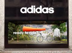 Adidas Window Display (Concept). a horizontal and closed back window display.
