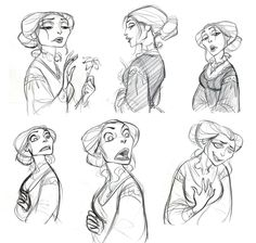 "I started re-posting old drawings from my old blog which is not in use anymore. These are early concept drawings of Mother Gothel in ""Tangled (2010)"""