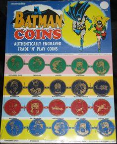 TRANSOGRAM 1966 Batman Coins #Vintage #Toys