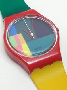 Vintage Ladies Swatch Watch Mc Swatch LR105 1985