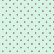 mint grey dot fabric