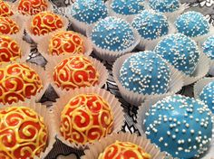fire and ice cupcakes | Kuchen Pops - Custom Cake Pops  Balls - Gallery - Themed