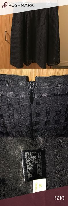Gianni Bini Black Midi Skirt Adorable and chic black a-line skirt! This has only been worn maybe 3 times for an hour at a time. This can be worn at your natural waist with a blouse tucked in and it will go to your knees, or lower on your waist and it will be a midi. This is a great staple item to have for an interview, work, chapter meetings if you're in a sorority or other dressy casual events. Gianni Bini Skirts A-Line or Full
