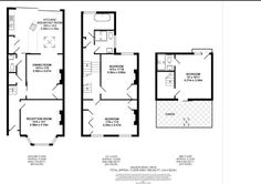 Victorian terrace house with loft and back extension Victorian Terrace House, Victorian Homes, Rear Extension, Extension Ideas, House Extensions, Kitchen Extensions, Floor Layout, Terrace Design, Loft House