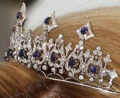 Sapphire Parure Necklace Tiara from the Netherlands