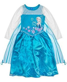Disney Frozen Elsa Little Girls 2Piece Dress  Cape Set L 6 Blue -- Be sure to check out this awesome product.