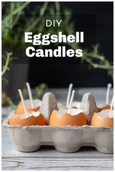 Create these easy natural eggshell candles for your Easter table decorations. A beautiful bit of spring decor. Fun Diy Crafts, Diy Craft Projects, Creative Crafts, Weekend Crafts, Easter Table Decorations, Eggshell, Easter Party, Nature Crafts, Diy Candles