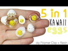 How to DIY 5-in-1 Kawaii Egg Polymer Clay/Resin Tutorial - YouTube
