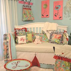Lucy Victoria Crib Bedding Collection Crib Bedding For Girls - aBaby.Com