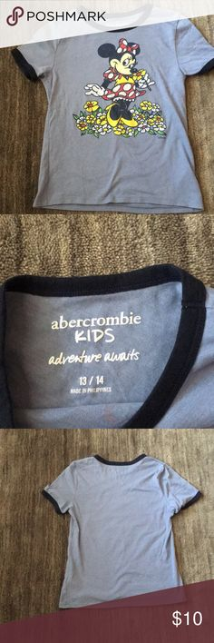 Abercrombie girls T-shirt Abercrombie girls size 13 to 14 T-shirt, mini mouse design with floral design, perfect come Titian, non-smoking home, worn once. No lowball offers or trades please abercrombie kids Shirts & Tops Tees - Short Sleeve