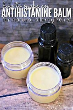 Antihistamine Balm—Are you looking for natural allergy relief remedies or products that works? Learn how to make our DIY antihistamine balm. It combines essential oils with natural ingredients for quick and reliable allergy relief. Natural Allergy Relief, Eye Allergy Relief, Natural Home Remedies, Natural Allergy Remedies, Natural Cure For Allergies, Seasonal Allergy Remedies, Allergy Remedies For Kids, Essential Oil Blends, Essential Oils Allergies