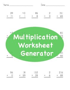 math worksheet : 1000 images about math stem resources on pinterest  decimals  : Worksheet Generator Multiplication