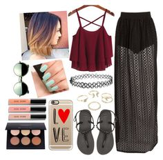 """""""Untitled #183"""" by annnaaaritaa18 on Polyvore featuring Havaianas, Lipsy, Casetify, Revo, NARS Cosmetics and Bobbi Brown Cosmetics"""