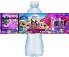 Shimmer and Shine DIY Printable Water Bottle Labels, Shimmer and Shine Custom Water Labels, Shimmer Shine Party Printables, Digital File