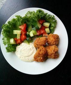 Friterad kycklingfilé med vitlöksås | Tjockkocken