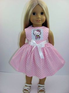 Hello Kitty Pink Dot Dress for the American Girl Doll