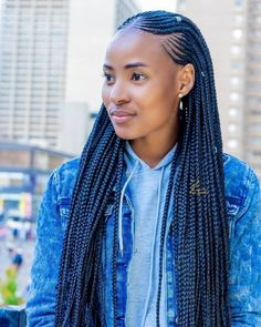 Braids are so important to most ladies because of it's natural beauty. It make ladies look so cute and pretty. Checkout these braided hairstyles and see if you will like anyone. Braids Hairstyles Pictures, Cool Braid Hairstyles, African Braids Hairstyles, My Hairstyle, Latest Ghana Weaving Hairstyles, Hairstyles 2018, Black Girl Braids, Braided Hairstyles For Black Women, Braids For Black Hair