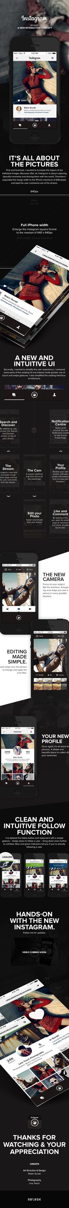 Instagram Revise - A new interaction concept by Robin Gurski, via Behance