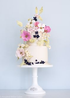 Climbing Wildflowers Celebration Cake by Rosalind MillerCakes - London