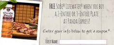 Panda Express - Get a FREE Sobe Lifewater w/ a 2 or 3 Entree Plate Printable Coupon | SassyDealz.com