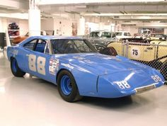 1969 Dodge Charger Daytona Buddy Baker in the #88 Chrysler Engineering Dodge Charger Daytona was the first driver in NASCAR history to break the 200 mph mark on March 24, 1970 at Talladega.