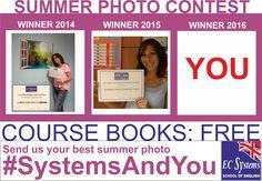 """El próximo ganador puedes ser tú.  Los libros del curso 2016-17 pueden ser tuyos GRATIS si participas en nuestro 3r CONCURSO DE FOTOS.  Busca la pestaña en esta página """"Concurso de fotos"""" o clica en este enlace:  http://www.ecsystemsschool.com/Photocontest3.html  #ComeToSystems #SystemsAndYou #EnjoyEnglish #Granollers #SantCeloni"""