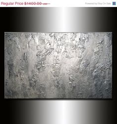 Original Large Abstract Painting Metallic by newwaveartgallery, $1120.00
