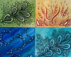 zentagle41.jpg (2057×1661):  So lovely!!   Of course, Earth, Fire, Water and Air?