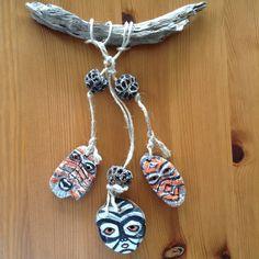 Driftwood Art / African / handpainted