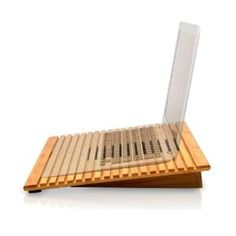 Macally ECOFAN Bamboo Laptop Stand with Fan
