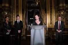 Prix de la danse de l'Arop pour la saison 2016/2017 à Letizia Galloni et Paul Marque, lors d'une cérémonie au Palais Garnier. #balletoperadeparis #Arop #Danse  #オーレリデュポン #орелидюпон #AurélieDupont  @ Julien Benhamou / Arop2018.