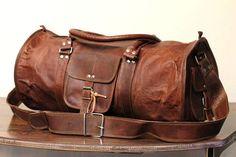 Renaissance Leather Duffel Bag Weekend Bag by renaissanceart100, $64.00