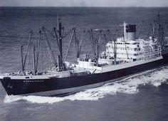 Menestheus Blue funnel line Merchant Navy, Merchant Marine, Abandoned Ships, Shipwreck, Motor Boats, Tall Ships, Sailing, Ocean, World