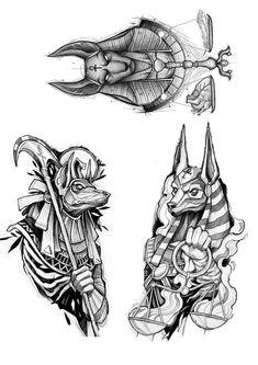Egypt Tattoo Design, Sketch Tattoo Design, Tattoo Sketches, Tattoo Drawings, Wing Tattoo Men, Demon Tattoo, Dark Tattoo, Cool Forearm Tattoos, Body Art Tattoos