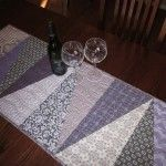 One Hour Table Runner using fat quarters - free instructions can be downloaded