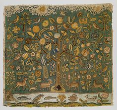 The Tree of Life-- from an article on the Met's website about English embroidery in the 16th century (1500s)