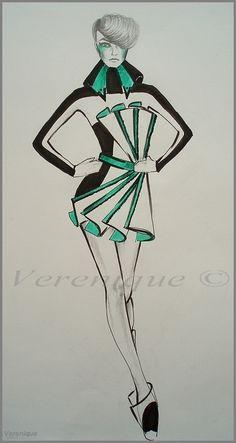 Black and white green- 3. by Verenique.deviantart.com on @deviantART