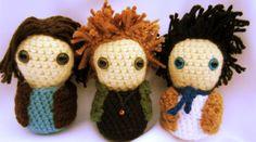 sam, dean, castiel, supernatural crochet