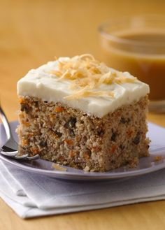 """I have recently been diagnosed as gluten sensitive and had a hard time finding a carrot cake recipe. I decided to try this recipe and it's fantastic. My husband told me this cake is better than any other carrot cake he has ever had."" –Betty member Mika128"