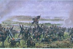 Bavarian assault on French positions, Aug, 1870
