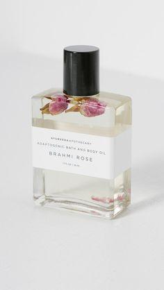 Packaging   YOKE Brahmi Rose Bath Oil in Ayurveda Herbs and Oils   The Dreslyn
