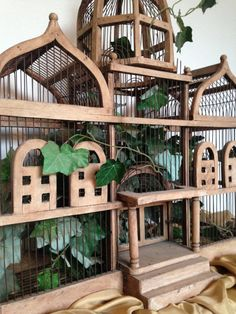 Hey, I found this really awesome Etsy listing at https://www.etsy.com/listing/214285972/victorian-wood-and-wire-birdcage